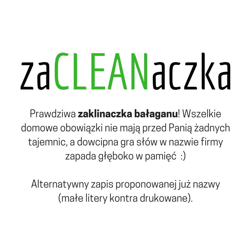 Konkurs Graficzny Nazwa Dla Firmy Z Branży Sprzątającej